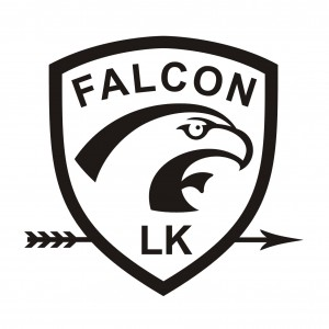 Falcon logo shield BW